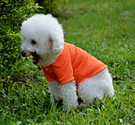 Cães Camiseta Vermelho / Verde / Azul / Rosa / Laranja Roupas para Cães Primavera/Outono Cor Única Casual
