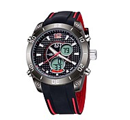 ASJ Hombre Reloj Deportivo Reloj digital Japonés Digital Cuarzo JaponésLCD Compass Calendario Resistente al Agua Dos Husos Horarios