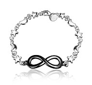 2016 New Infinity Noble Silver Black Party Luxury Specially Bracelets For Women