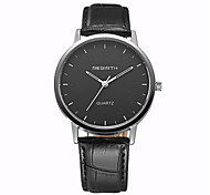 REBIRTH® Men's Simple Dress Design PU Leather Strap Quartz Wrist Watch Casual Watch Fashion Watch