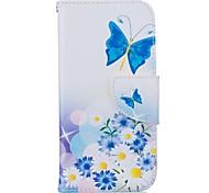 Ganzkörper Brieftasche / Kartenhalter / mit Ständer Schmetterling PU - Leder Hart Fall-Abdeckung für Apple iPhone 7 / iPhone 7 plus