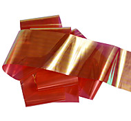 1pcs 100*4cm Nail Art DIY Glitter Shinning Red Beautiful Color Transfer Foil Stickers BL07