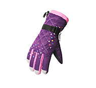 Winter Gloves Kid's Keep Warm Ski & Snowboard / Snowboarding Purple Canvas Free Size-Others