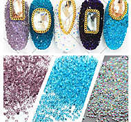 1000pcs/bag 1.2mm Many Colors Zircon Rhinestones Micro Diamonds Mini 3D Nail Art Rhinestone Nails Decorations