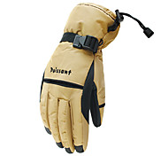 Ski Gloves Winter Gloves Unisex Keep Warm Ski & Snowboard / Snowboarding Red / Black / Brown Canvas Free Size