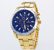 Men's Dress Watch Quartz / Alloy Band Casual Gold Brand