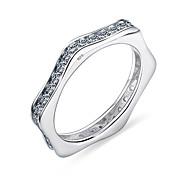 Elegant Cubic Zircon Ring Fashion Women Luxury Gift 925 Solid Sterling Silver Wedding Jewelry Brand New