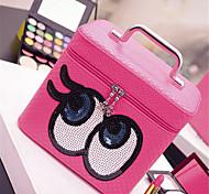 box doppio trucco degli occhi sacchetto cosmetico portatile borsa grande capacità di archiviazione di lavaggio