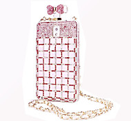 розовый лук благородный кристалл алмаза флакон духов ТПУ случае для Samsung Note3