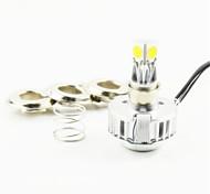1pcs Dual Beam H4 LED Motorcycle Headlight Kit 24W 2500lm 3 COB Chips Bike Head Lamp Bulb 6500K & H4 Connector