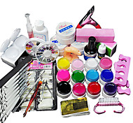 42Pcs  Acrylic Powder Glitter UV Gel Cleanser Primer Nail Set