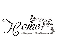 Home Where You Are Loved Quote Sticker Butterfly and VIne Decals