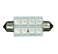 6X Blue 8-SMD LED Map /Dome Interior Lights Bulbs 42MM Festoon 578 211 212 5050
