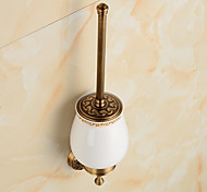 Antique Wall Mounted Brass Material Toilet Brush Holder