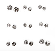Beadia 334Pcs Mixed 9 Style & Sizes Antique Silver Alloy Beads Cap Metal Flower Spacer Beads
