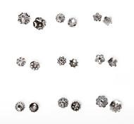 beadia 334pcs смешанный стиль 9&размеров антикварные серебряные шарики сплава крышка металла цветок шарики прокладки