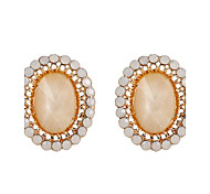 Fine Jewelry European Style High-Grade Charms Fashion Diamond Zinc Alloy Earrings