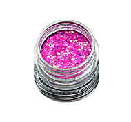 1 Bottle Nail Art Match Color Highlight Glitter Shining Colorful Powder Nail Makeup Beauty 08