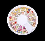 1 boîte de bricolage liaison plat couleur perle mixte (diamètre: 0.4cm)