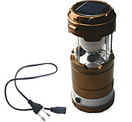 Led camping Light/Flashlights/ Lanterns & Tent Lights 2 Mode ABS Rechargeable/6 Led Solar Pannel/Emergency
