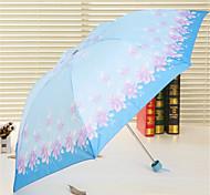 7K Rod Upgrade Color Three Korea Fashion Flower Folding Portable Short Umbrella Folding Umbrella