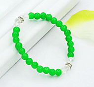 Strand Bracelets 1pc,Yellow / Red / Green Bracelet Vintage Circle 514 Crystal Jewellery