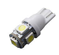 10 шт T10 белый 168 194 501 W5W 5 SMD LED боковой автомобиль клина свет лампы накаливания DC 12V