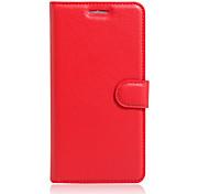 Ganzkörper Brieftasche / Kartenhalter / mit Ständer / Flip Einheitliche Farbe PU - Leder WeichWallet type bracket / flip / mobile phone