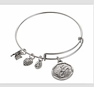 The Letter k Pendant Bracelet