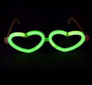 Luminous Heart-Shaped Eyeglasses Frame Holiday Party Gift