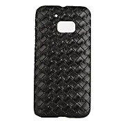 For HTC M10 New Gradient Color PU Leather Braided lines Grid Cell Phone Cases Checkerboard Mobile Case Cover