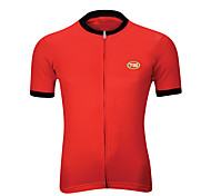 Sports Bike/Cycling Tops Men's Short Sleeve Breathable / Front Zipper / Back Pocket /Reduces Chafing / Soft /