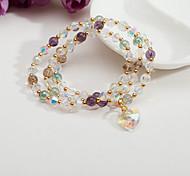 Strand Bracelets 1pc,Clear Bracelet Fashionable Circle 514 Crystal Jewellery