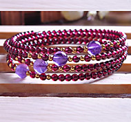 Strand Bracelets Luxury Natural Crystal Fashionable Daily / Casual Jewelry Gift Purple