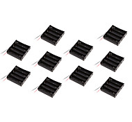 10PCS Section 18650 battery box battery box battery holder with 4 lines with protection board 14.8V applicable
