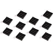 sezione 10pcs supporto della batteria contenitore di batteria contenitore di batteria 18650 con 4 linee con bordo di protezione 14.8V