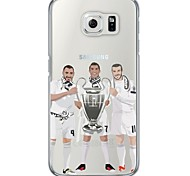 Football Player Stars Pattern Soft Ultra-thin TPU Back Cover For Samsung GalaxyS7 edge/S7/S6 edge/S6 edge plus/S6/S5/S4