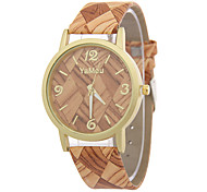 Women's/Ladies' Wood Grain Fashion Watch Quartz Watch Men And Women