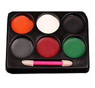 6 Blush Dry Pressed powder Coverage Face Black / Grey / Green / Red / White / Orange Vankas Halloween