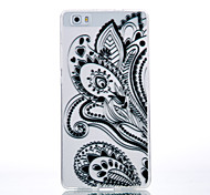 TPU Material Black Half Flower Pattern Cellphone Case for Huawei P9Lite/P9/P8Lite