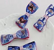 Korean Flower Girl's Frozen Fabric Hair Clip