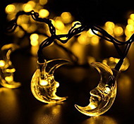 Waterproof 5M 20LED Solar Moon String Lights