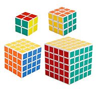 Shengshou® Cube velocidade lisa 2*2*2 / 3*3*3 / 4*4*4 / 5*5*5 Velocidade / profissional Nível Cubos Mágicos BrancoAnti-pop / mola