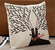 1 PC Modern Style Cotton/Linen Pillow Case 17 by 17 inch Cartoon Pattern