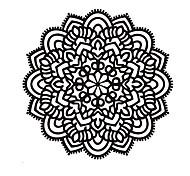 Mandala Flower Namaste Vinyl Sticker Art Decor Yoga Mandala Indian Pattern Wall Decals For Religion