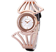 REBIRTH® Women's Simple Fashion Case PU Leather Strap Quartz Wrist Watch Casual Watch Dress Watch