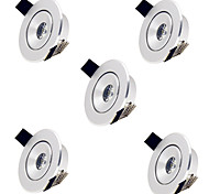5pcs 1W Warm Cool White MINI Round LED Recessed Ceiling Down Light Lamps (85-265V)