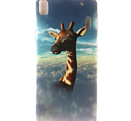 Giraffe Painting Pattern TPU Soft Case for Lenovo K3 Note