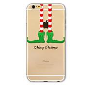 Для Кейс для iPhone 7 / Кейс для iPhone 6 / Кейс для iPhone 5 Полупрозрачный / С узором Кейс для Задняя крышка Кейс дляНовогодняя