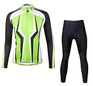 Ilpaladin Sport Women Long Sleeve Cycling Jerseys Suit CT713 Dark Green